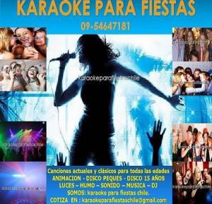 fiestas de cumpleaños karaokes a domicilio luces – humo – sonido – mus