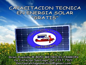 gratis curso de energia solar /rentagame chile
