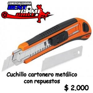 cuchillo cartonero metalico con repuestos precio: $ 2.000