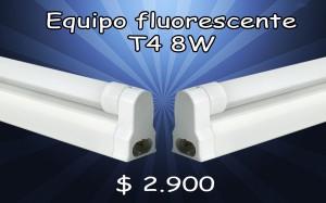 equipo fluorescente t4 8w/ precio:  $ 2.900