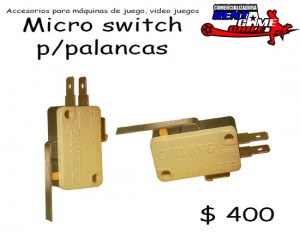 micro switch p/palancas de maquinas de juego/precio: $ 400