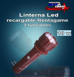 linterna led recargable rentagame /2 funciones $ 2.990