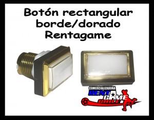 boton rectangular borde/dorado-maquinas de juego-envios a todo chile