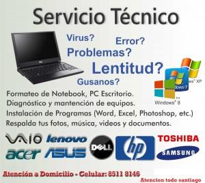 servicio tecnico a domicilio, servicio tecnico notebook,  seriedad