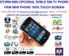 NEW PHONE F006 (BLACKBERRY STORM 9500 OPCIONAL) DOBLE SIM WIFI INTERNET TV
