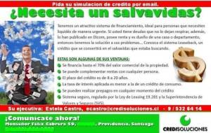*urgente dinero, con dicom, credito leaseback con dicom. chile