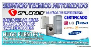 splendid autorizado lavadoras secadoras,refrigeradores,