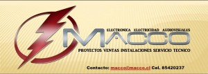 macco ofrese servicio tecnico electronico electrico audivisuales