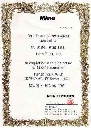 servicio tecnico especializado en microscopia nikon certificado de man