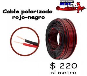 cable polarizado rojo-negro/precio: $ 220 el metro