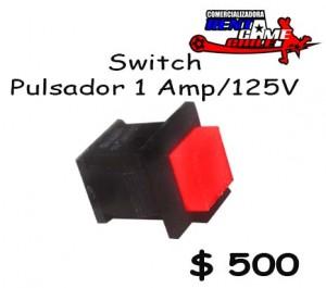 switch pulsador 1 amp/125v precio: $ 500