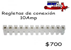 regletas de conexión 10amp precio oferta de rentagame : $ 700