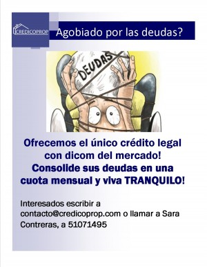 no se deje engañar! unico credito legal con dicom en chile.