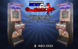 multijuegos  2014 -  8 in 1+ rockola precio: $ 480.000