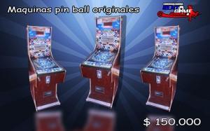maquinas pin ball originales/precio: $ 150.000 pesos