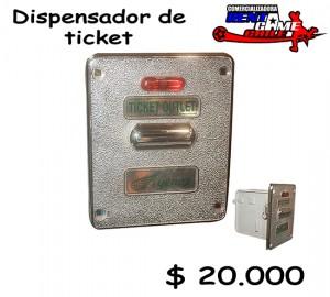 dispensador de ticket/precio especial: $ 20.000 pesos