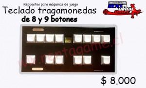 teclado para maquina de juego tragamonedas/precio: $ 8.000 pesos