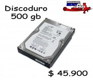 disco duro 500gb/insumos de computacion/ precio. $ 45.900