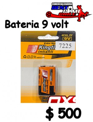 bateria 9 volt/larga duracion /precio oferta: $ 500