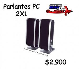 parlantes pc 2x1/computacion/precio oferta rentagame: $ 2.900