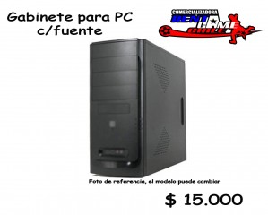 gabinete para pc con fuente precio: $ 15.000