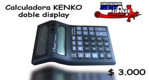 calculadoras kenko doble display precio: $ 3.000