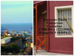 amoblado diario valparaiso, céntrico, cómodo y seguro, fono 97508350