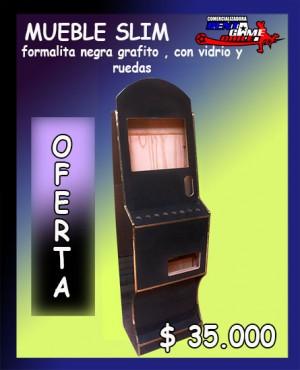 mueble slim formalita , con vidrio y ruedas /precio: $ 35.000 pesos