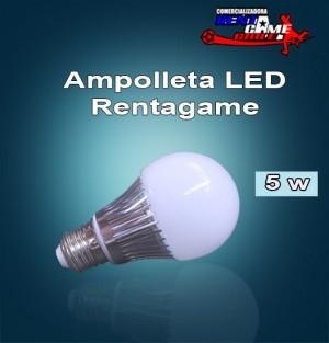 ampolleta led  rentagame 5w/220v luz fria/luzcalida /aluminio $ 3.262