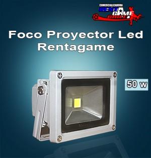 foco proyector led rentagame 50 watt/220 volt/luz fria $ 40.000
