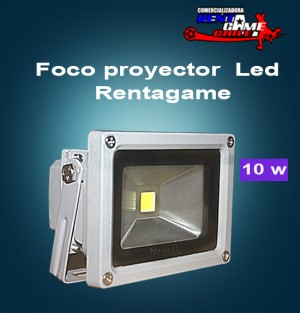 foco proyector  led  rentagame/ 10 watt/aluminio/luzfria $10.000