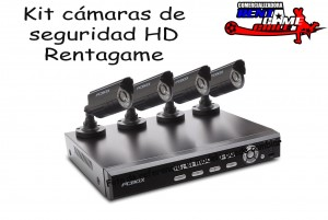 kit 4 cámaras de vigilancia hd rentagame $ 220.000