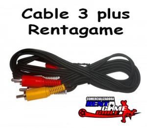cable 3 plus rentagame/venta mayorista y minorista