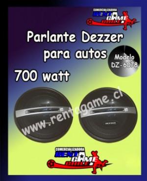 parlante dezzer para autos modelo dz-6078/envios a todo chile