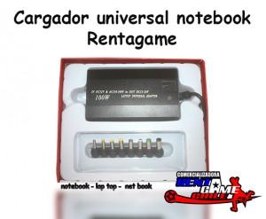 cargador universal notebook rentagame/envios a todo chile