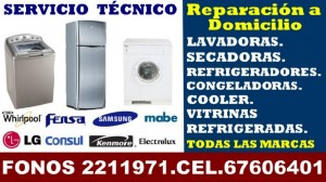 reparacion de refrigeradores fensa en valdivia 63-2211971