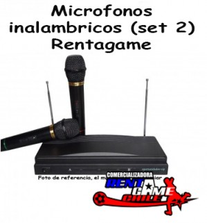 microfonos inalambricos rentagame (set 2)/envios a todo chile