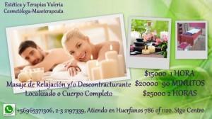 estetica y terapias valeria masajes de relajacion descontracturante