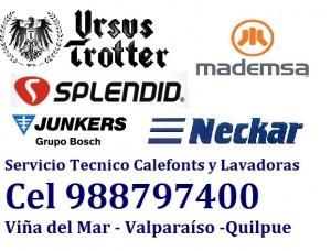 trotter mademsa servicio calefont lavadoras c 988797400 viña del mar y