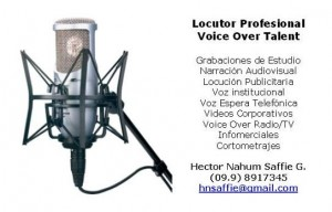 locutor profesional . . . voz, experiencia, calidad.