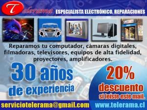 servicio tecnico telerama televisores