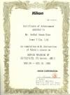 Certificado tecnico nikon se mantenimiento reparacion calibracion n